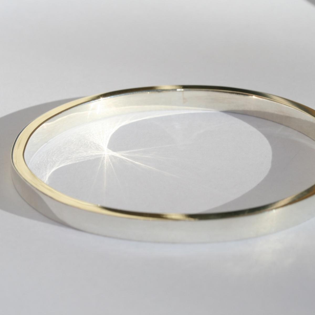 Armring, silverarmband, Slät silverarmband i silver