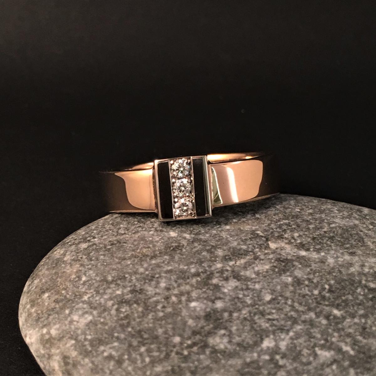 Diamantring, flerfärgad ring, guldring