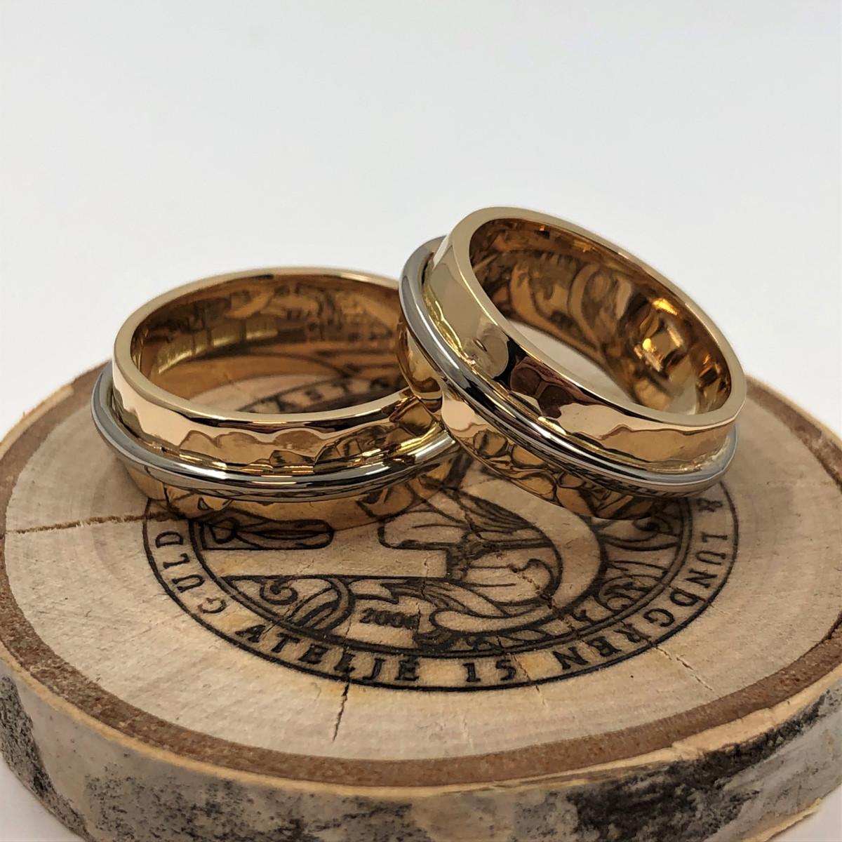 Förlovningsringar, vigselringar, rödguldsringar, möntrade ringar