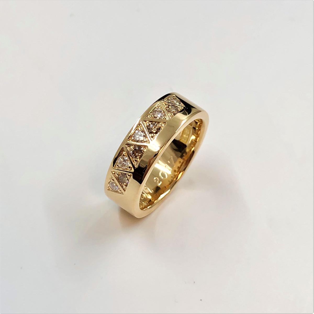 Bruna diamanter, vigselring, förlovningsring