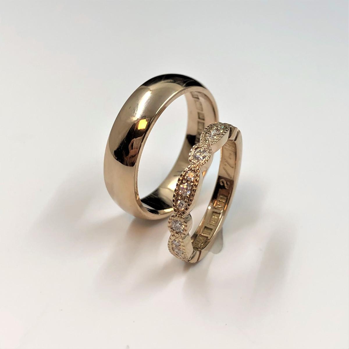 Vigselringar, förlovningsringar, guldringar, diamantringar