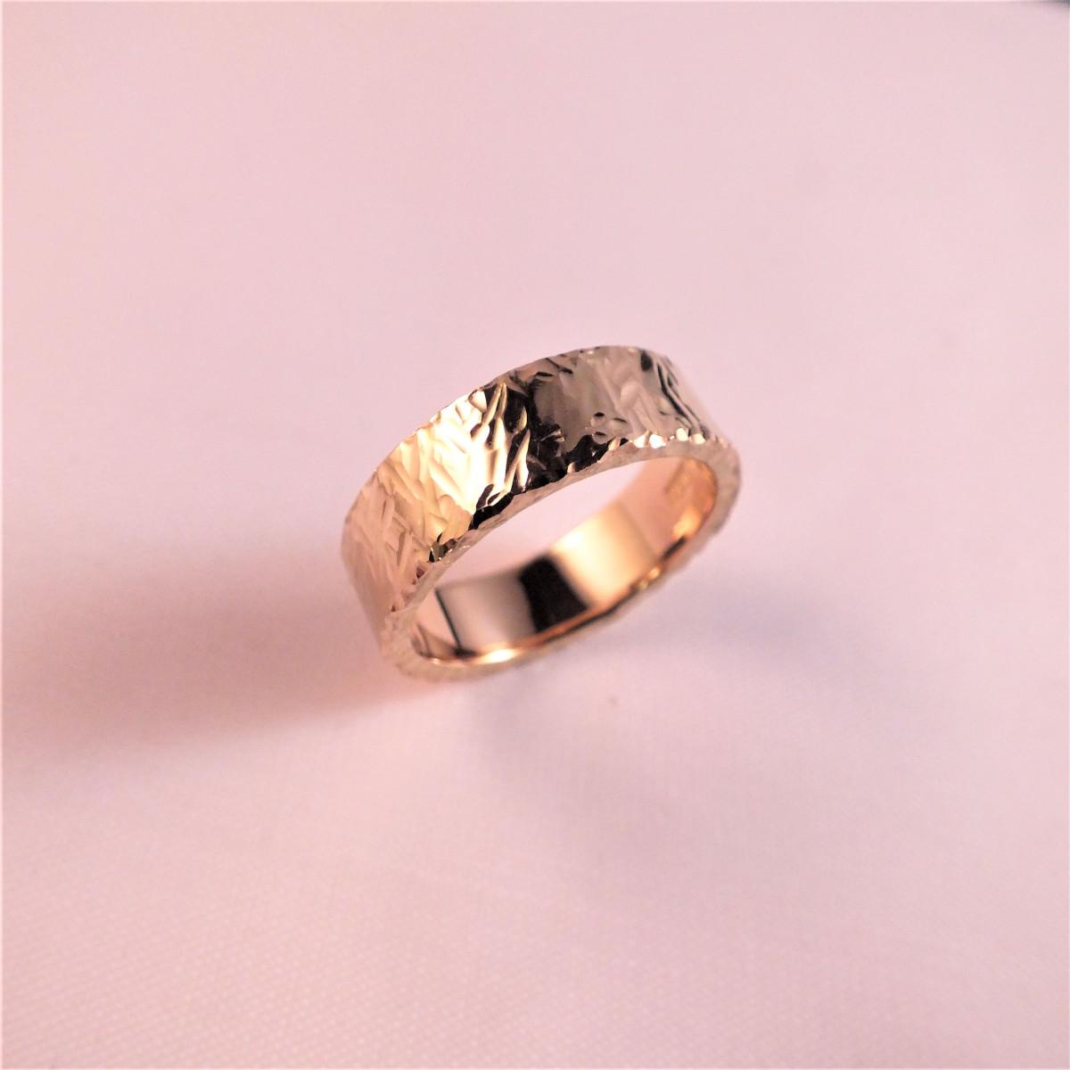Herring, hamrad ring, rödguldsring