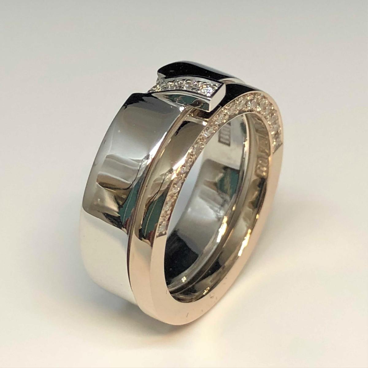 Diamantringar, förlovningsringar, vigselringar