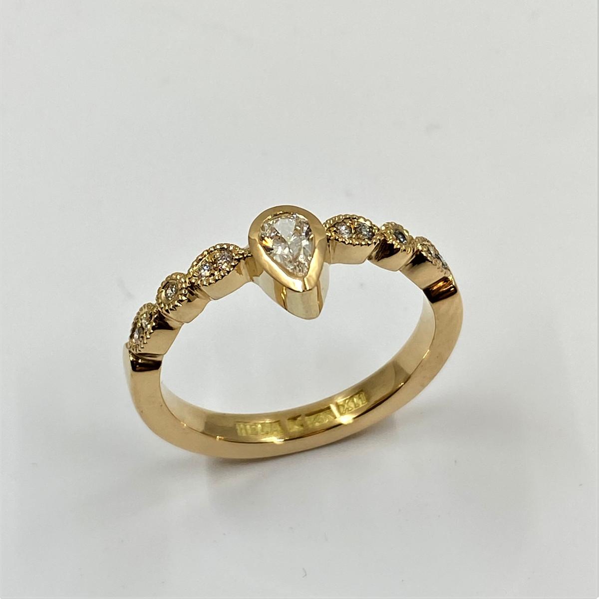 Vigselring, förlovningsring, guldring, diamantring